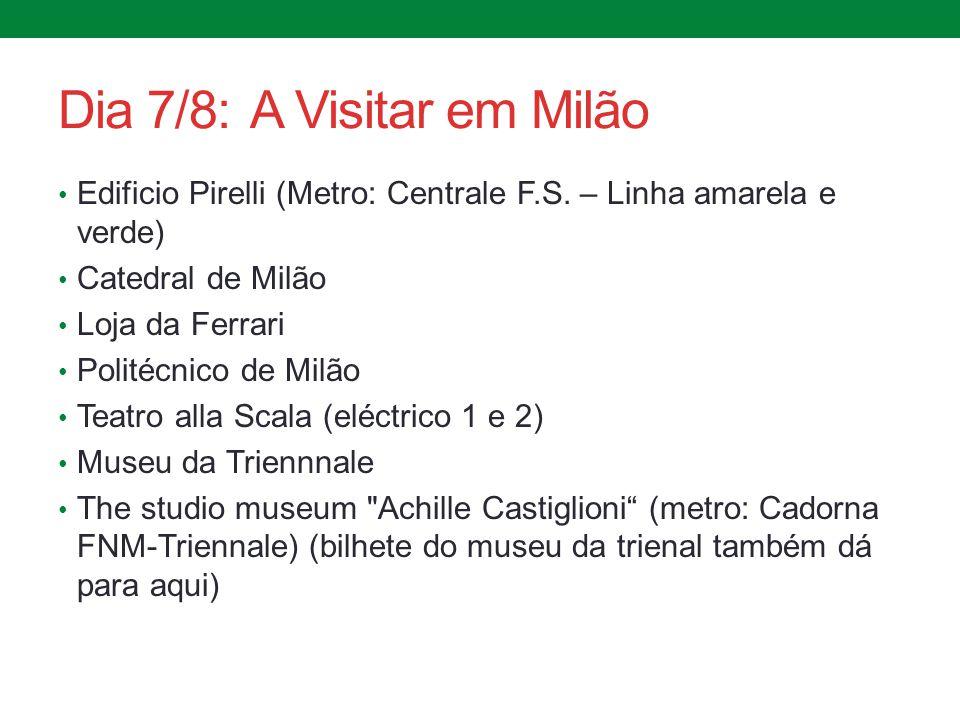 Dia 7/8: A Visitar em Milão