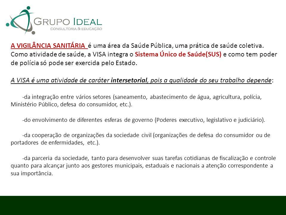 A VIGILÂNCIA SANITÁRIA é uma área da Saúde Pública, uma prática de saúde coletiva.