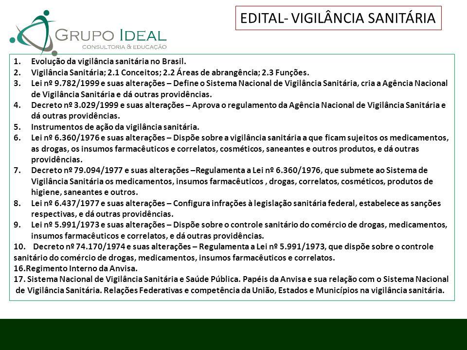 EDITAL- VIGILÂNCIA SANITÁRIA