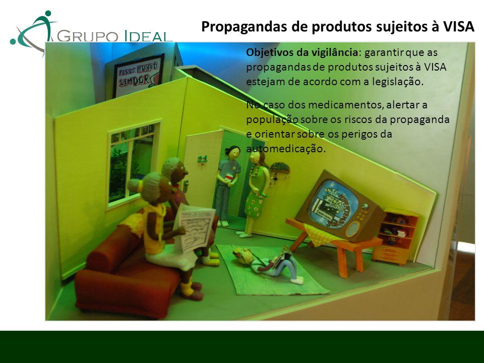 Propagandas de produtos sujeitos à VISA