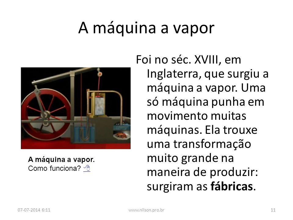 A máquina a vapor