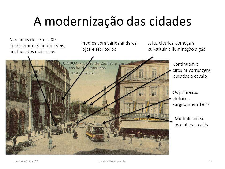 A modernização das cidades