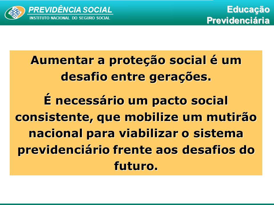 Aumentar a proteção social é um desafio entre gerações.