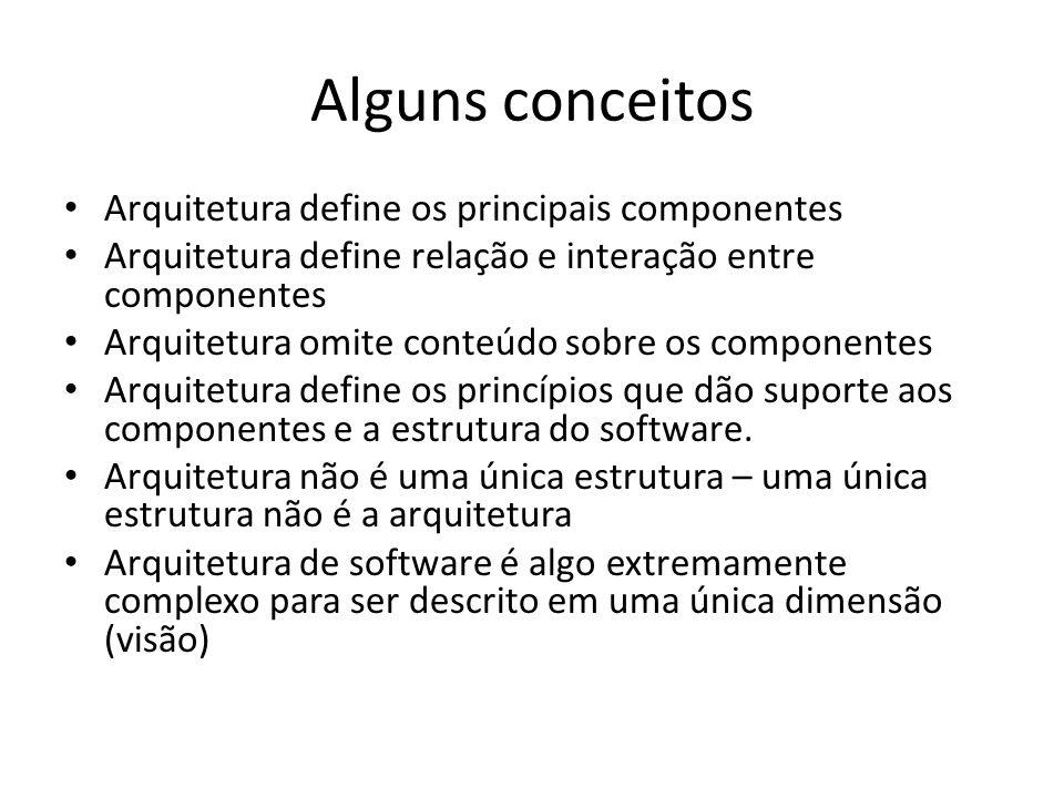 Alguns conceitos Arquitetura define os principais componentes