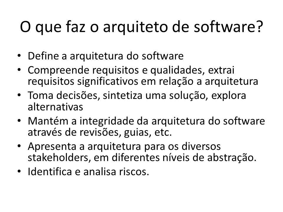 O que faz o arquiteto de software