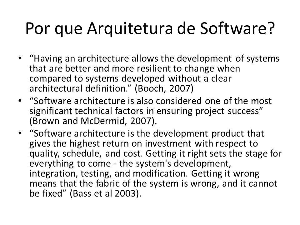 Por que Arquitetura de Software