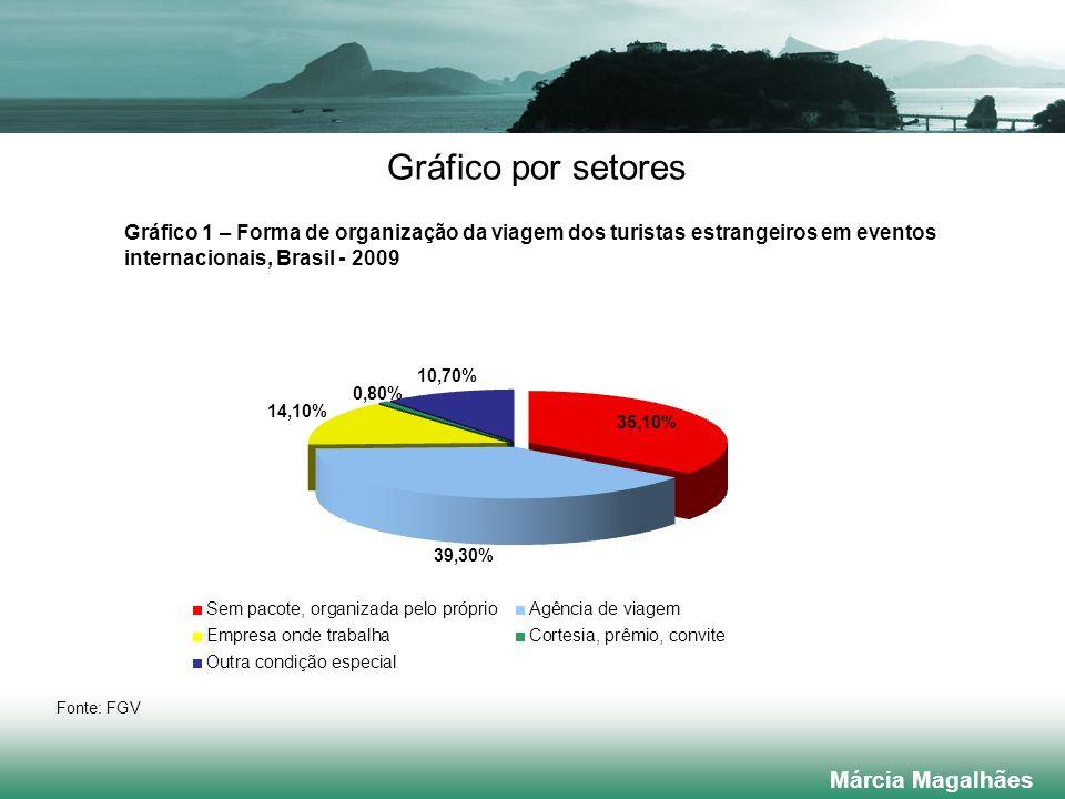 Gráfico por setores Márcia Magalhães