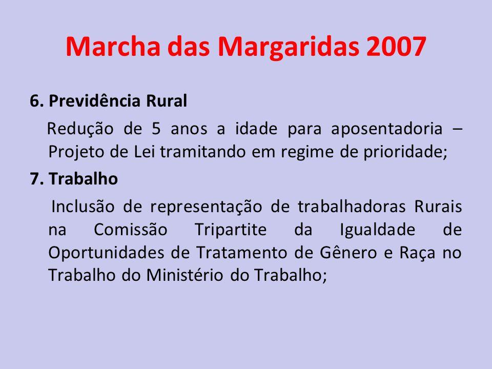 Marcha das Margaridas 2007 6. Previdência Rural