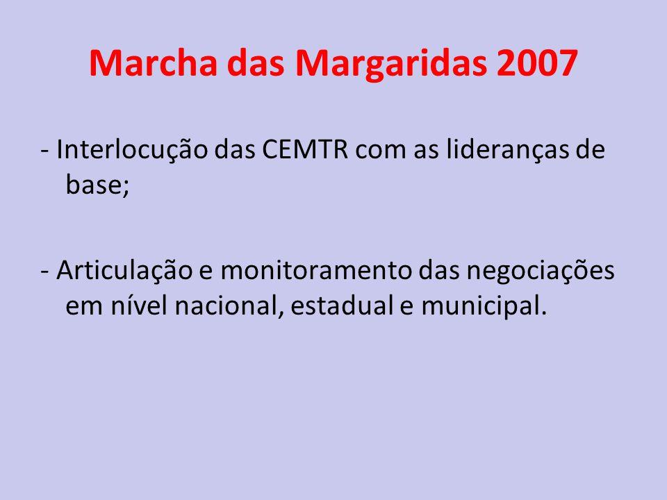 Marcha das Margaridas 2007 - Interlocução das CEMTR com as lideranças de base;