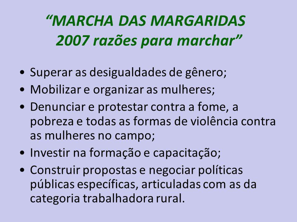 MARCHA DAS MARGARIDAS 2007 razões para marchar