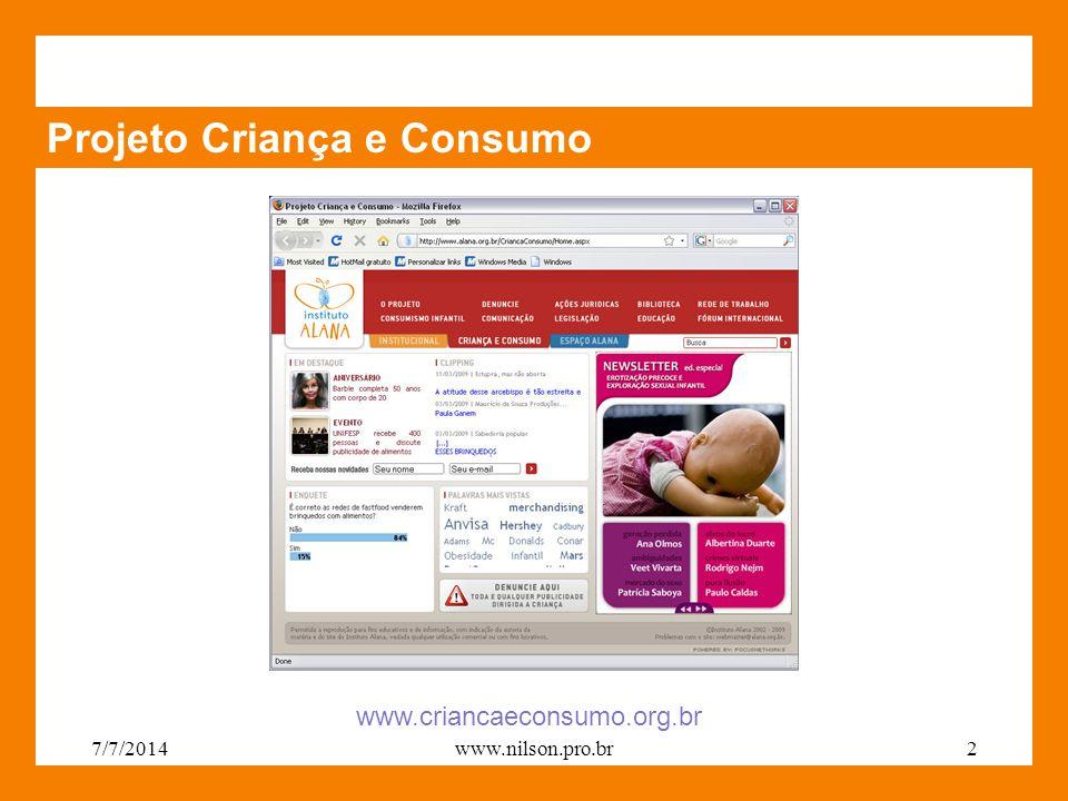 Projeto Criança e Consumo