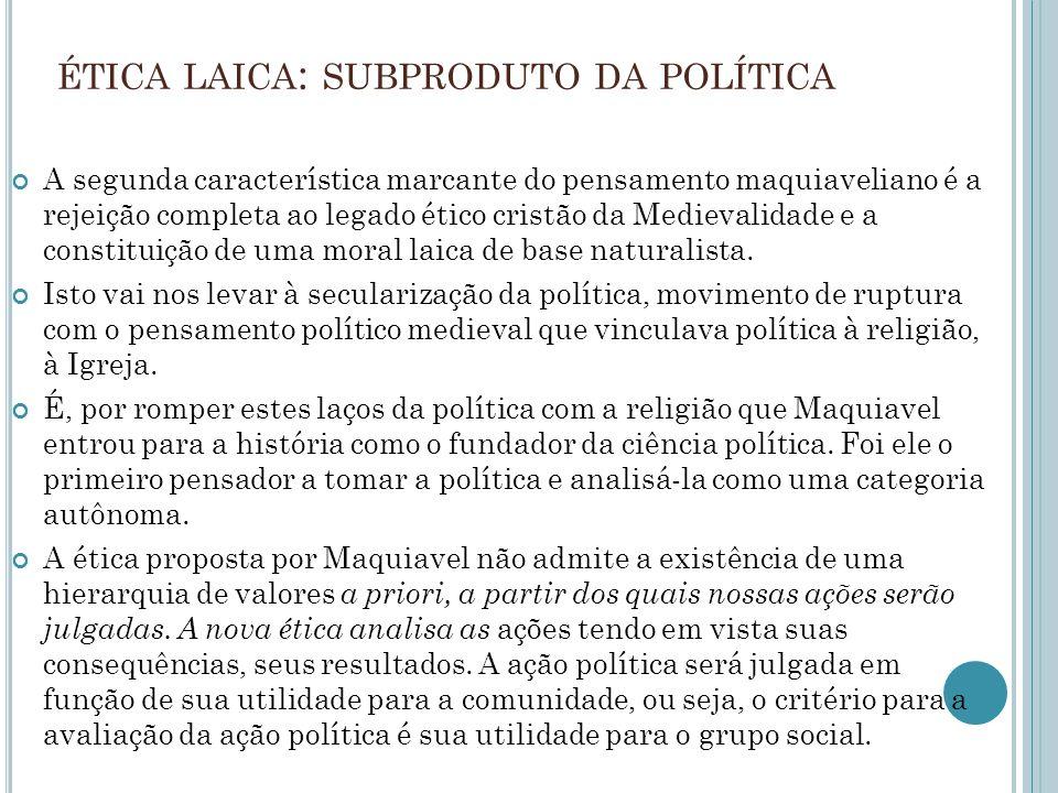 ética laica: subproduto da política