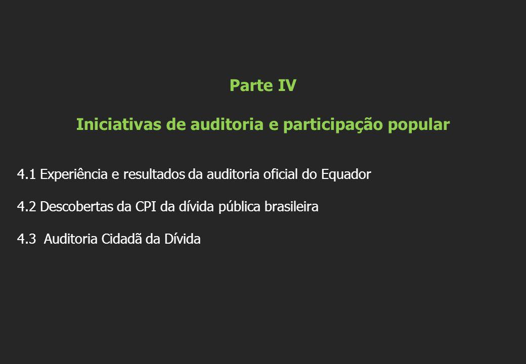 Parte IV Iniciativas de auditoria e participação popular
