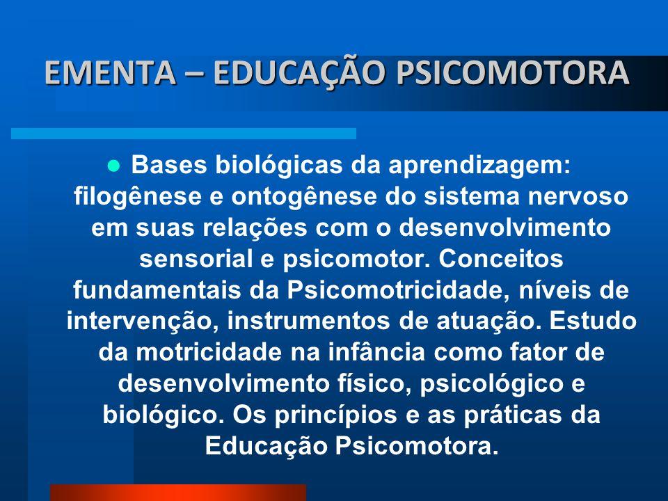 EMENTA – EDUCAÇÃO PSICOMOTORA