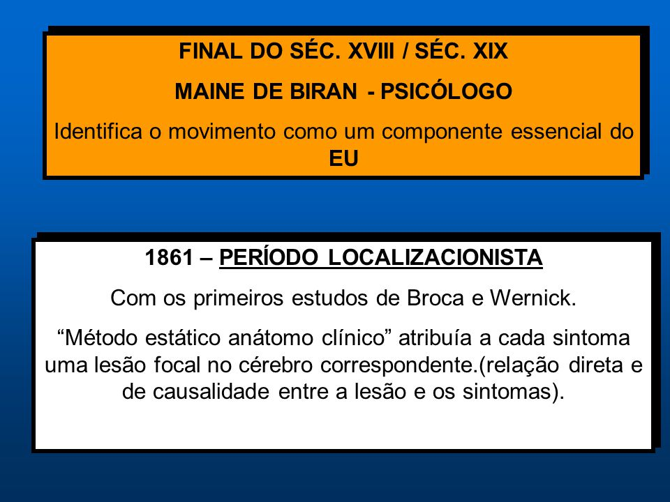 FINAL DO SÉC. XVIII / SÉC. XIX MAINE DE BIRAN - PSICÓLOGO