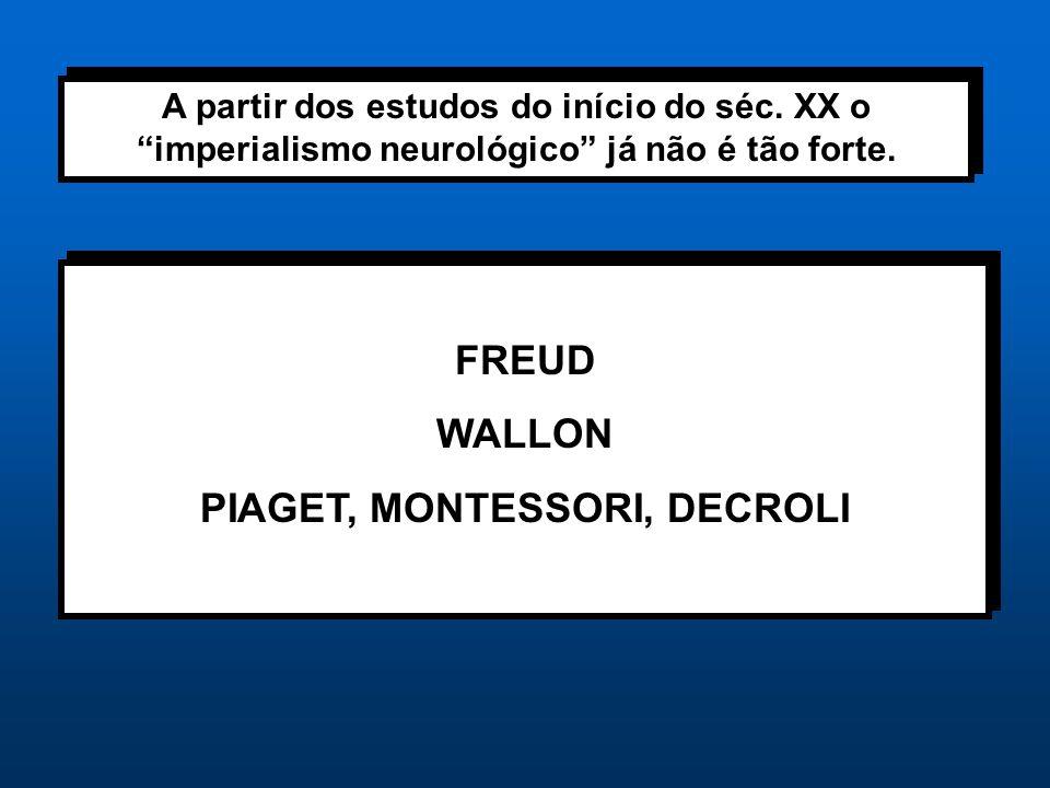 PIAGET, MONTESSORI, DECROLI