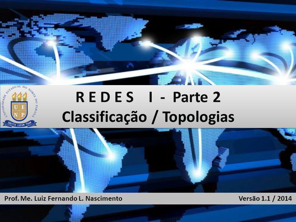 R E D E S I - Parte 2 Classificação / Topologias