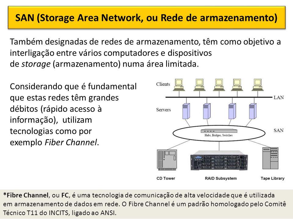 SAN (Storage Area Network, ou Rede de armazenamento)