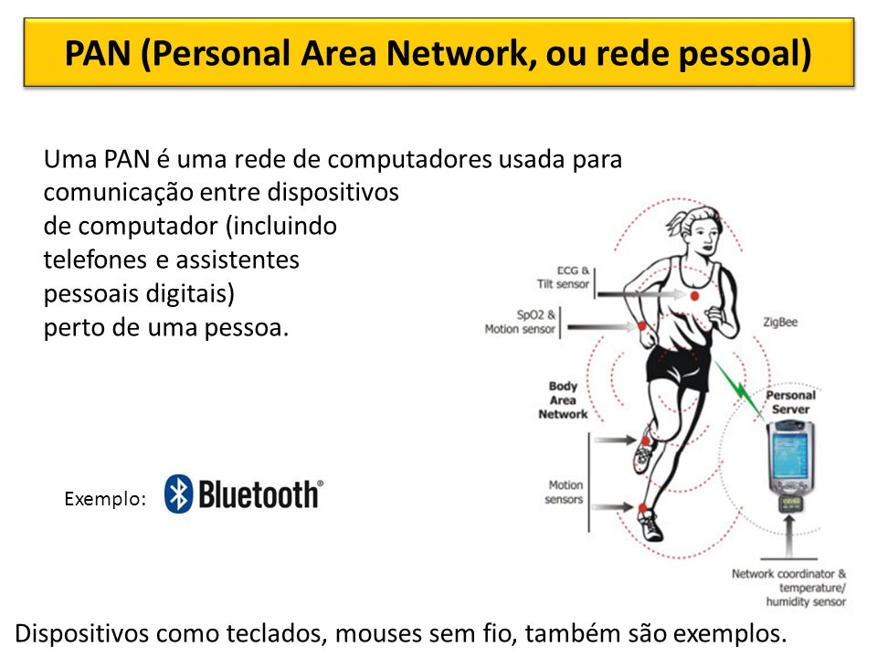 PAN (Personal Area Network, ou rede pessoal)