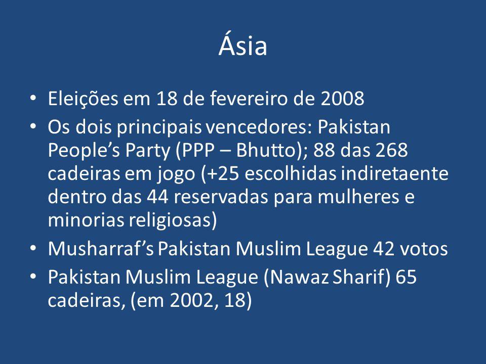 Ásia Eleições em 18 de fevereiro de 2008