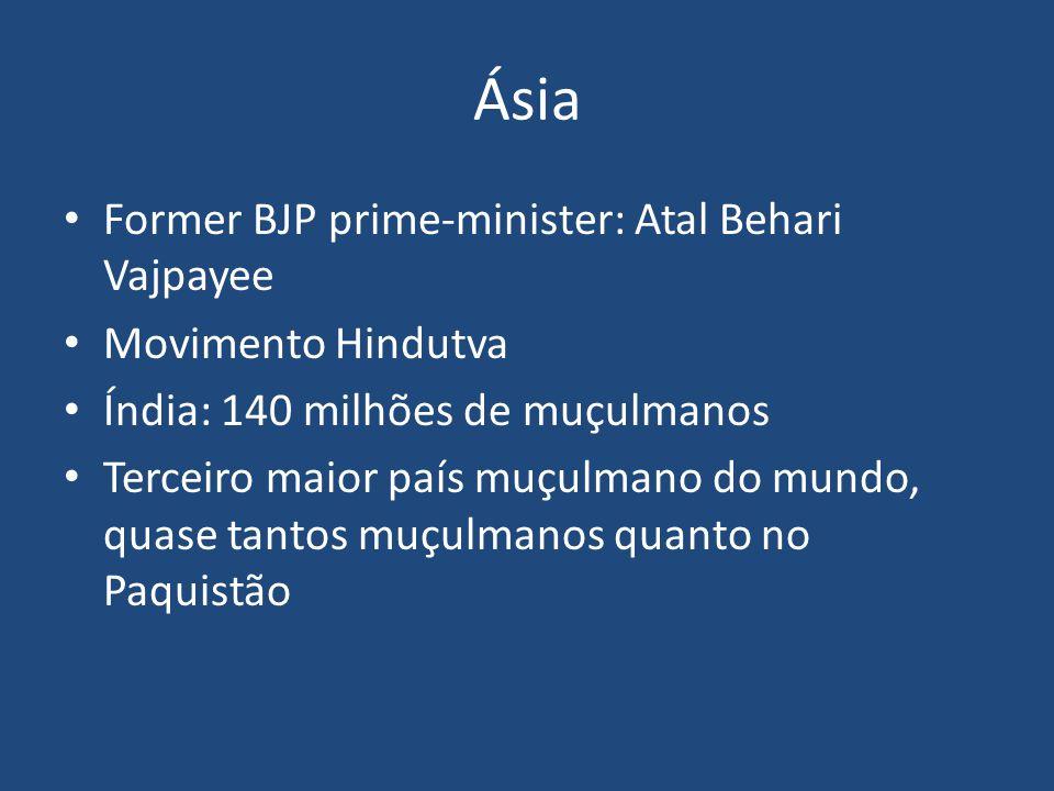 Ásia Former BJP prime-minister: Atal Behari Vajpayee