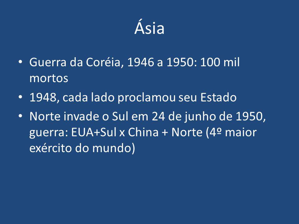 Ásia Guerra da Coréia, 1946 a 1950: 100 mil mortos