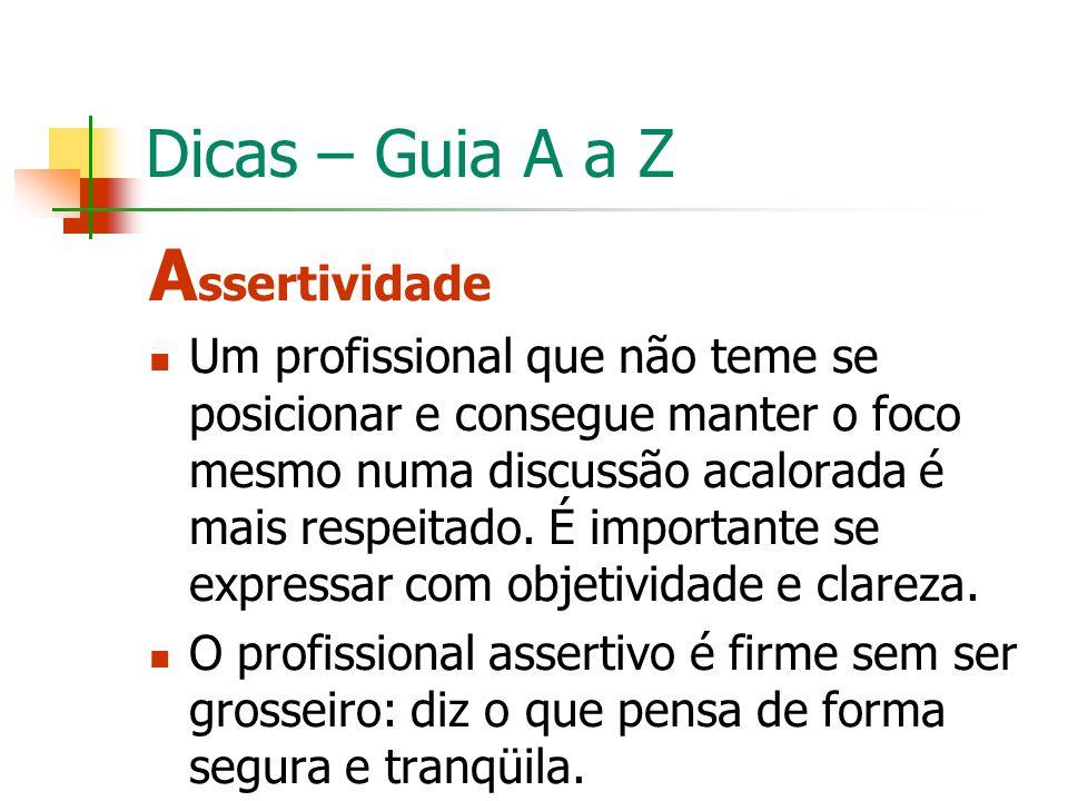 Assertividade Dicas – Guia A a Z