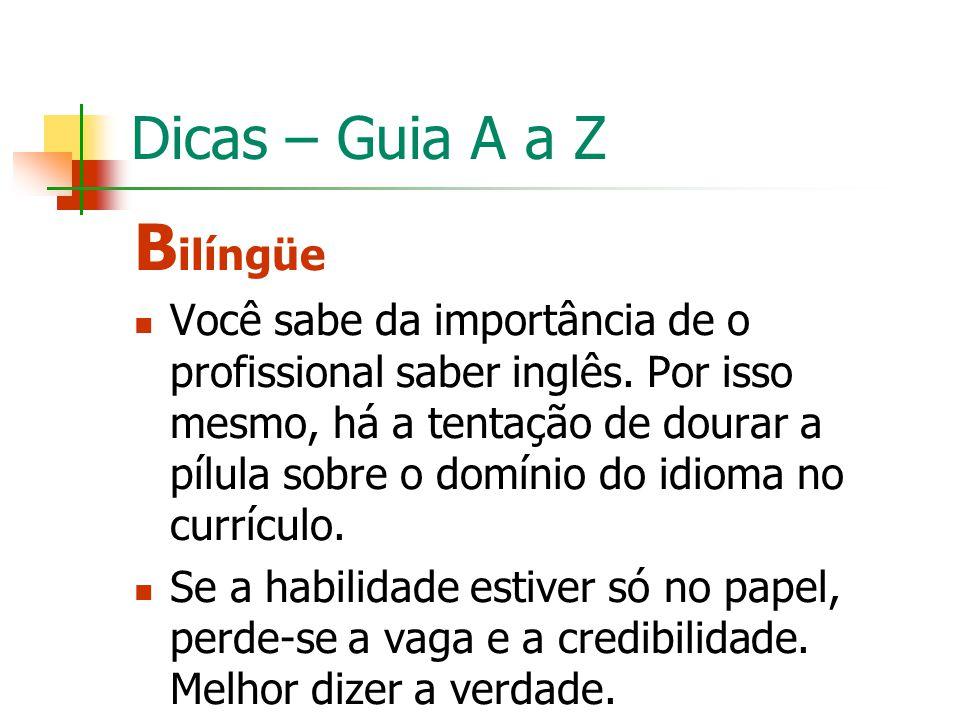 Bilíngüe Dicas – Guia A a Z