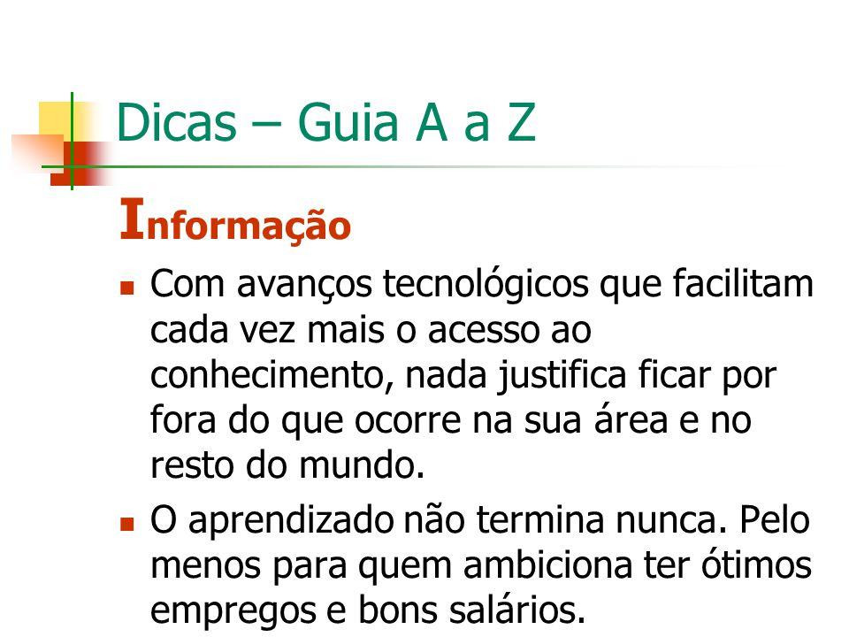 Informação Dicas – Guia A a Z