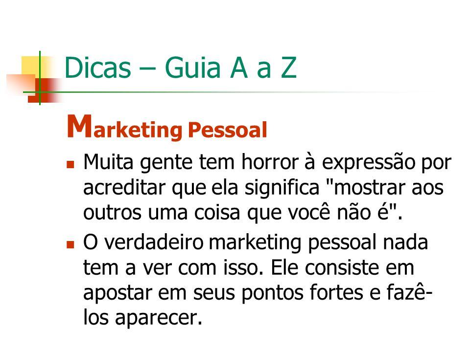 Marketing Pessoal Dicas – Guia A a Z