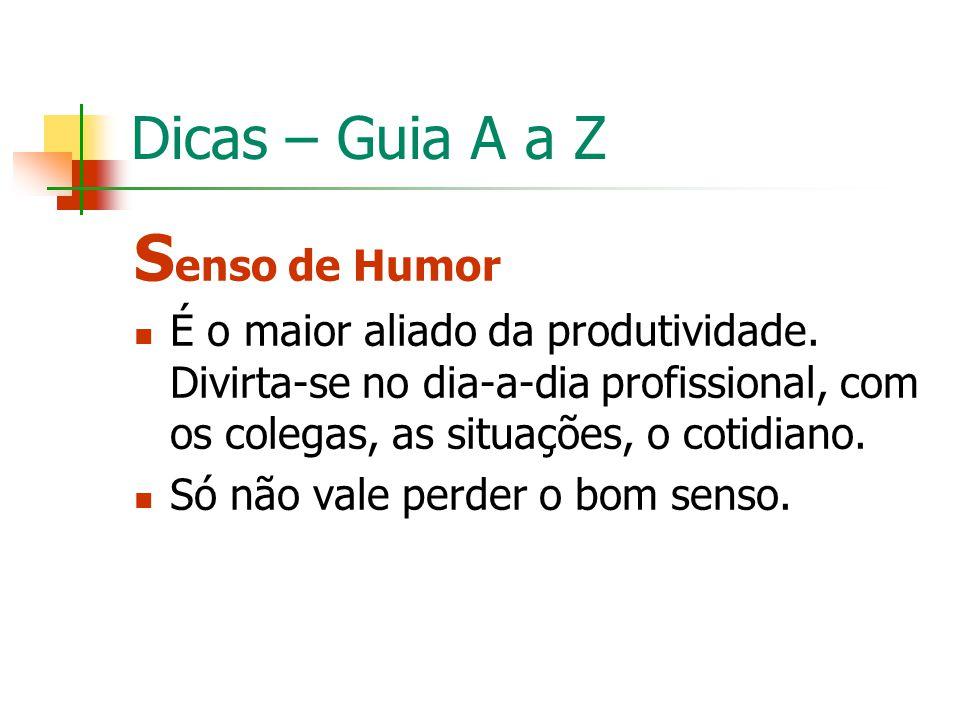 Senso de Humor Dicas – Guia A a Z
