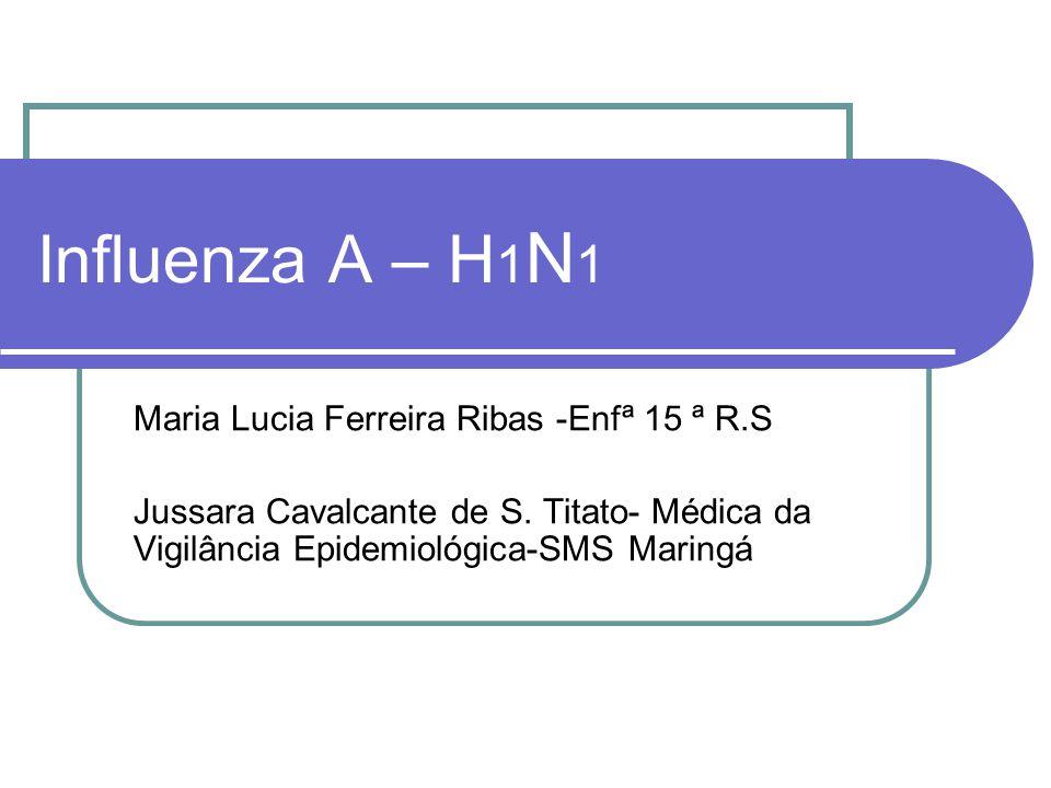 Influenza A – H1N1 Maria Lucia Ferreira Ribas -Enfª 15 ª R.S