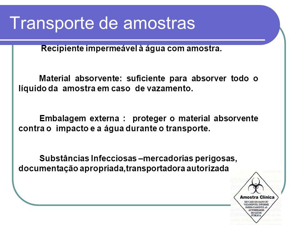 Transporte de amostras