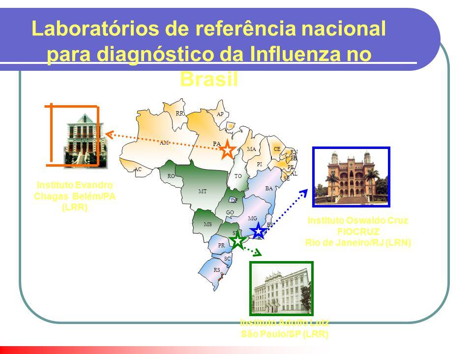 Laboratórios de referência nacional para diagnóstico da Influenza no Brasil