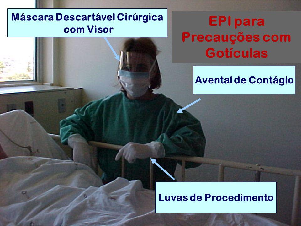 Máscara Descartável Cirúrgica EPI para Precauções com Gotículas
