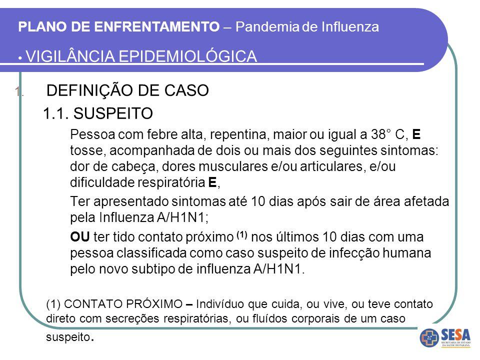 DEFINIÇÃO DE CASO 1.1. SUSPEITO