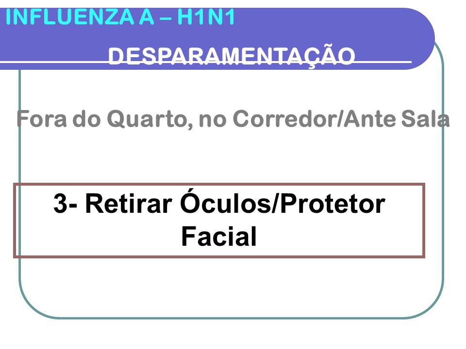 3- Retirar Óculos/Protetor Facial