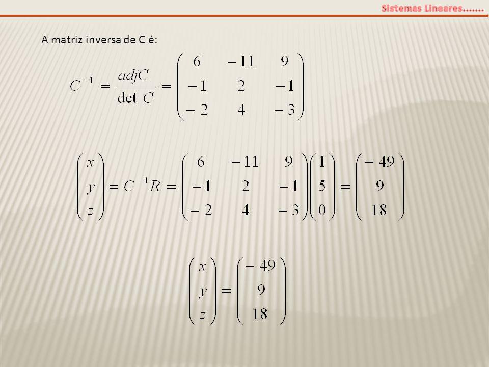 A matriz inversa de C é: