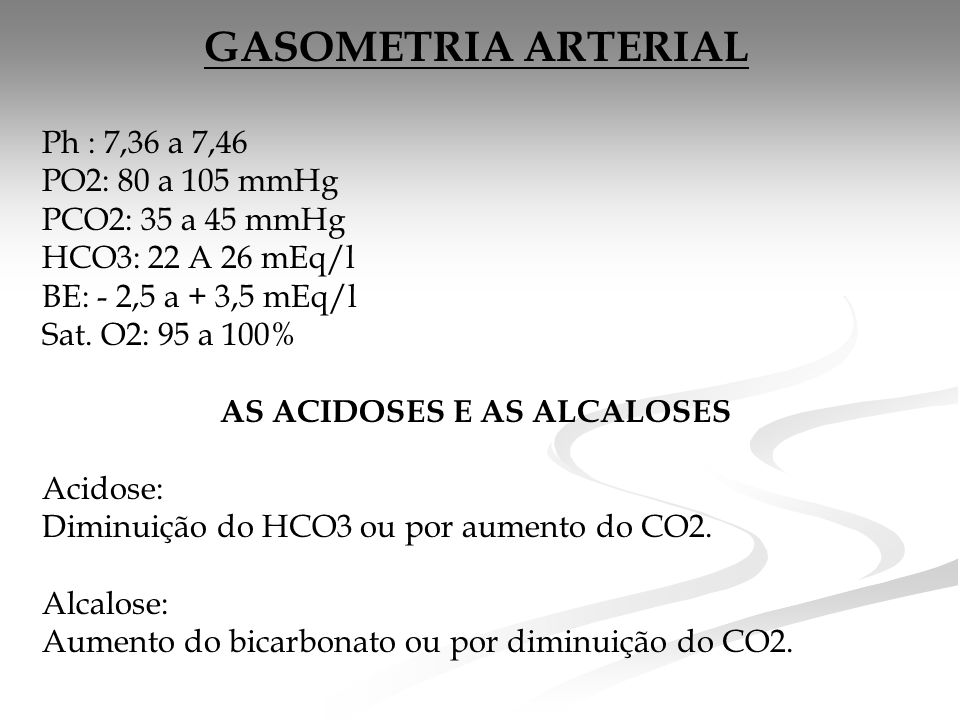 AS ACIDOSES E AS ALCALOSES