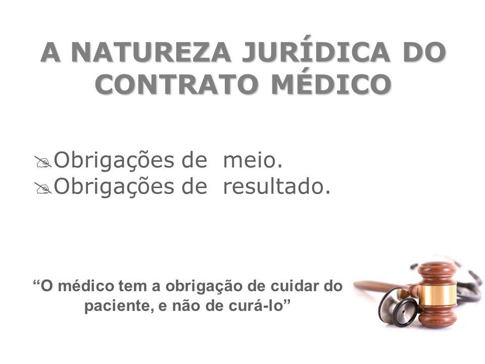 A NATUREZA JURÍDICA DO CONTRATO MÉDICO
