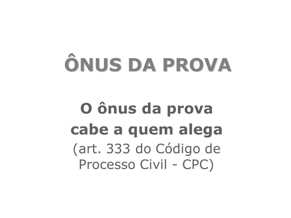 (art. 333 do Código de Processo Civil - CPC)