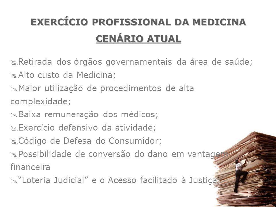 EXERCÍCIO PROFISSIONAL DA MEDICINA CENÁRIO ATUAL