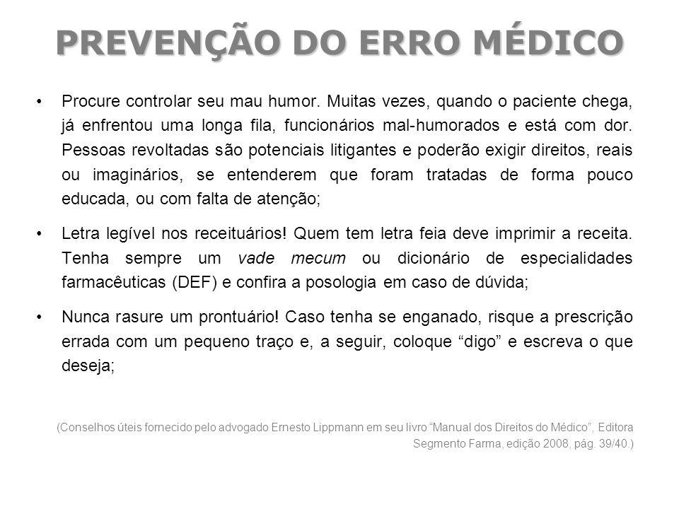 PREVENÇÃO DO ERRO MÉDICO