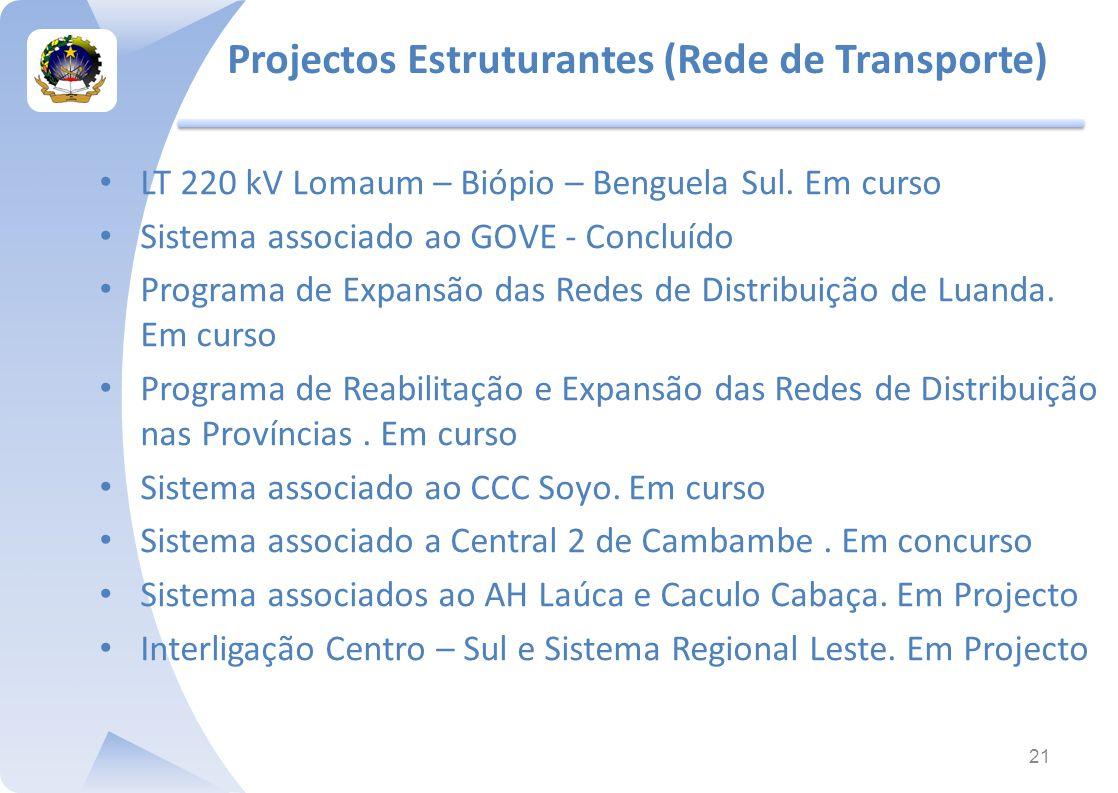 Projectos Estruturantes (Rede de Transporte)