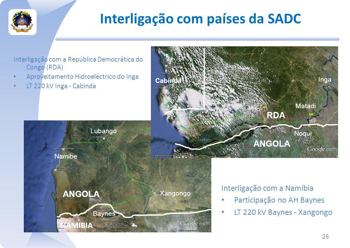 Interligação com países da SADC