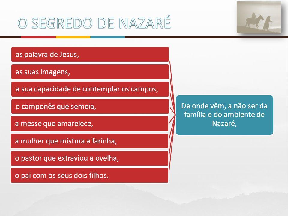 De onde vêm, a não ser da família e do ambiente de Nazaré,