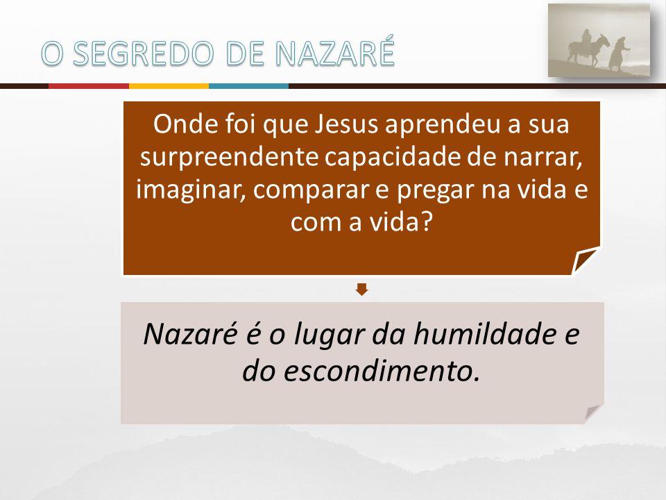 Nazaré é o lugar da humildade e do escondimento.