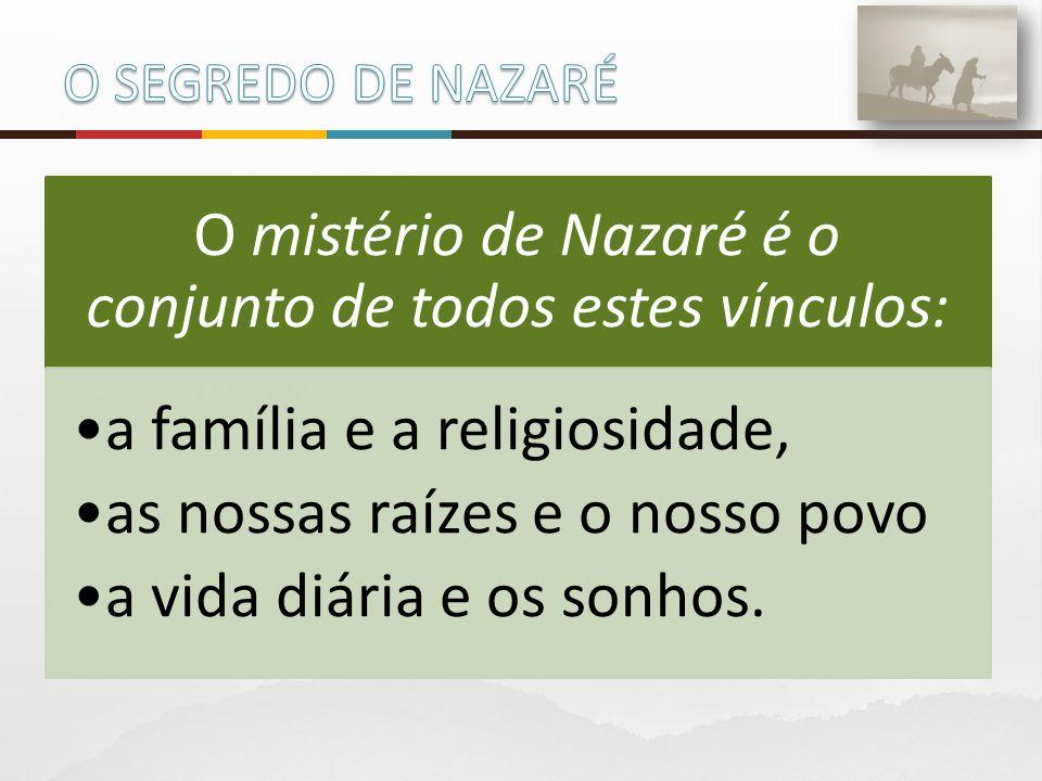 O mistério de Nazaré é o conjunto de todos estes vínculos: