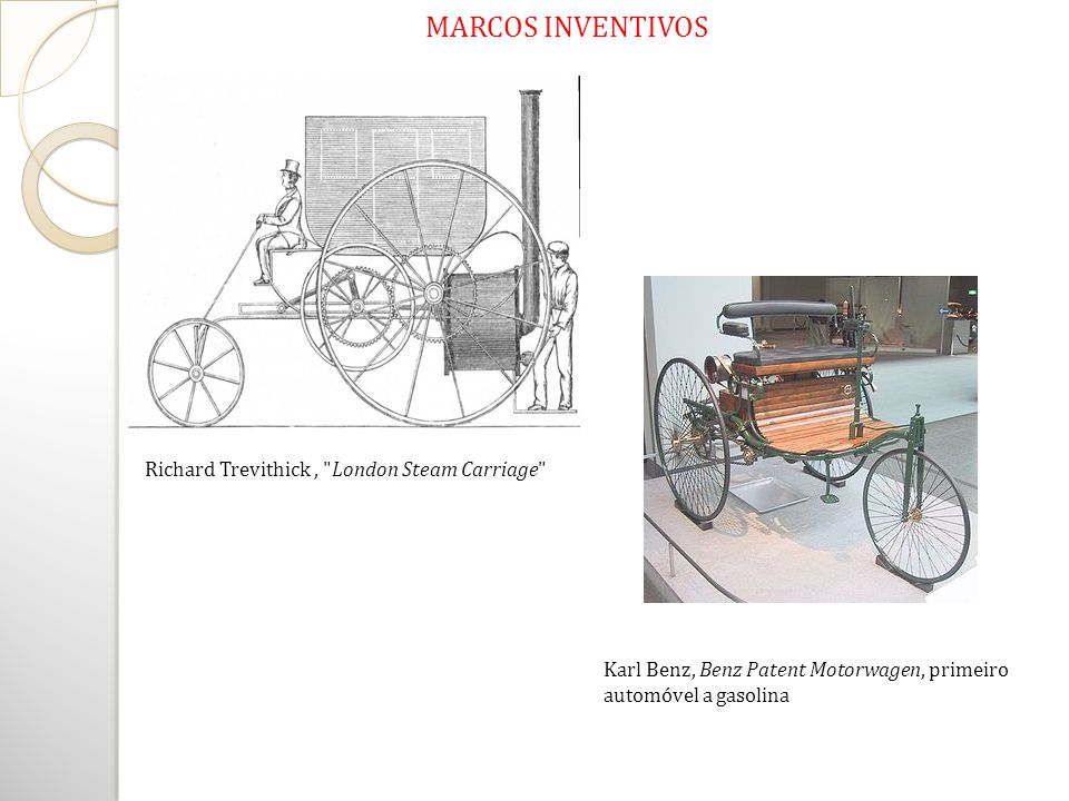 MARCOS INVENTIVOS Richard Trevithick , London Steam Carriage