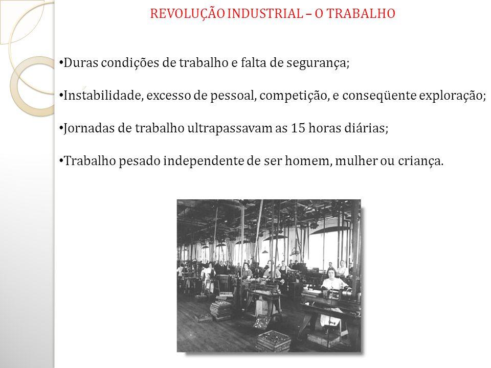 REVOLUÇÃO INDUSTRIAL – O TRABALHO